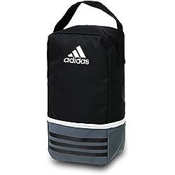 adidas Tiro, Bolsa para Zapatos, Negro/Gris Oscuro/Blanco, 12 x 18 x 36 cm
