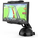 MONTOLA® Universal Navi GPS Auto Halterung kompatibel mit Tomtom Garmin und Tablets - KFZ-Halterung mit Kugelgelenk und Schwanenhals, passend für jedes Auto