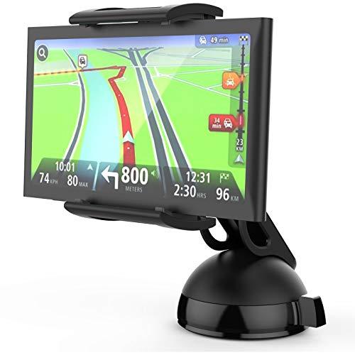 MONTOLA® Universal Navi GPS Auto Halterung kompatibel mit Tomtom Garmin und Tablets - KFZ-Halterung mit Kugelgelenk und Schwanenhals, passend für jedes Auto (Garmin-auto Gps)
