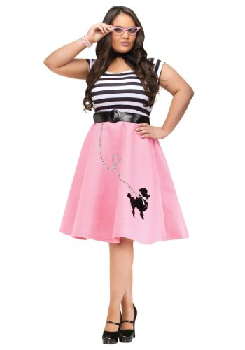 Plus Size Poodle Skirt Dress 2X