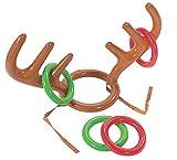 Simplefirst Weihnachtsfest-Wurfs-Spielzeug, aufblasbarer Ren-Geweih-Hut mit 4 Wurf-Ringen Künstliche Geweih-Hut-Wurf-Party-Spiele Weihnachtsfeiertags-Weihnachtsfest-Spielwaren Geschenk
