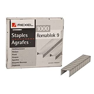 Acco Rexel Office Light Duty Staples - 13mm x 9.4mm - Pack of 1000