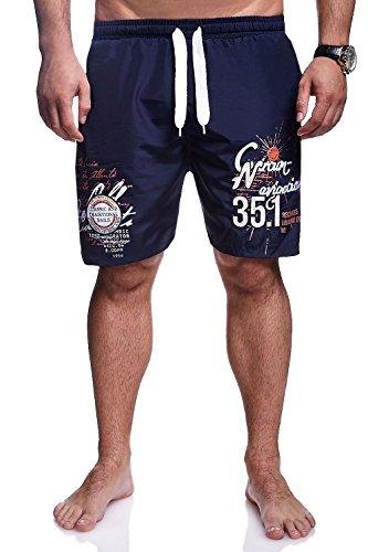 MT Styles Badeshorts NAVIGATION Shorts Badehose BA-6002 Dunkelblau