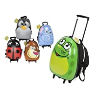 New Egg Shaped Shiny Animal Hard Shell Childs Trolley Case Luggage Suitcase Backpack
