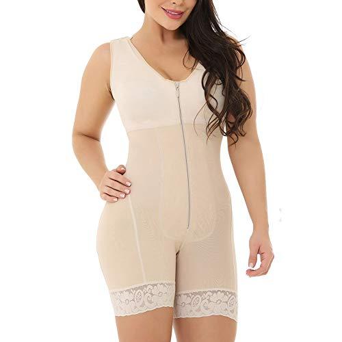 LJLis Bodysuit Shapewear Mit Hoher Taille Abnehmen Seamless Body Shaper Shapewear Figurformender Mieder Body,4XL -