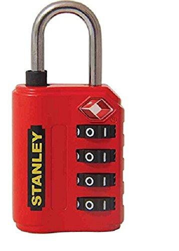 STANLEY TravelMax TSA Zahlenschloss 30mm rot 4-stellig S742-058, Schloss, Bügelschloss