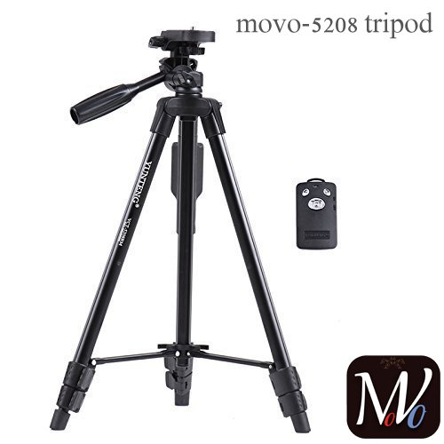 MOVO® moto G5S plus Compatible Certified VCT-5208 Tripod With Bluetooth Remote Control Shutter For Mobile Phones, DSLR, and Sports Cameras