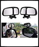Automaze 2 pcs 3R-028 Car Rear View Blind Spot Parking Mirror Adjustable 360 Degree Wide Angle, Rear View Mirror Mounted…