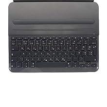 Logitech Slim Folio Pro Cover iPad con Tastiera Bluetooth Wireless, iPad Pro 12.9 Pollici (Modelli 3a Gen: A1876, A1895, A1983, A2014), Tasti Retroilluminati e Rapidi iOS, Layout Inglese Qwerty