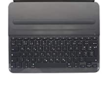 Logitech Slim Folio Pro iPad Case with Wireless Bluetooth Keyboard, iPad Pro 12.9 Inch (3rd Generation Models: A1876, A1895, A1983, A2014), Backlit Keys, 14 iOS Shortcut Keys, QWERTY UK Layout - Black