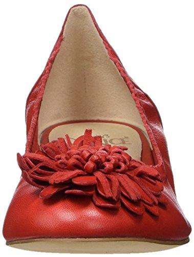 Caprice Damen 22103 Geschlossene Ballerinas Rot (Red)