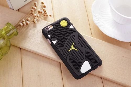 New Air Michael Jordan 3D Sports Shoe Rubber Sole Case For Apple iphone 7, Design 02 Design 01