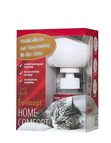 Felisept Home Comfort Set – Das Original – Entspannungsmittel für Katzen mit natürlicher Katzenminze – Starter Set mit Diffusor inkl. Flakon für 30 Tage (1 x 45 ml)