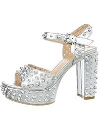 0c70cffef4a6f9 Suchergebnis auf Amazon.de für  glitzer - Silber   Sandalen   Damen ...