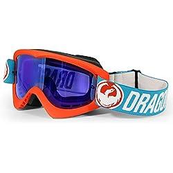Dragon-Gafas de Ciclismo Unisex Adulto, Flash Azul