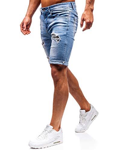 BOLF Hombre Pantalón Corto Vaquero XZX Star 3962 Azul 32/46 [7G7]