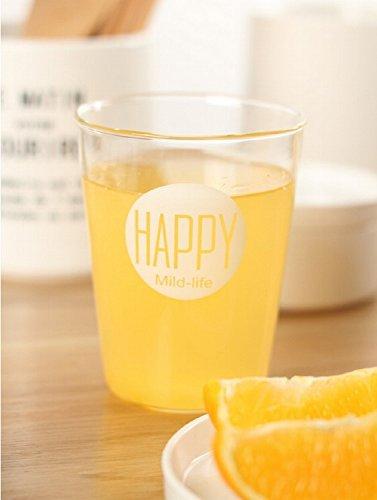 K&C Style tazze del Nord Europa Occhiali bicchiere di acqua, 13,5 once buon succo