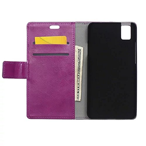 Verrückte Pferd Texture Pattern synthetischen PU-ledernen Fall horizontalen Flip-Ständer Case Wallet Fall Deckung Solid Color Case für Huawei Honor 7I ( Color : Red , Size : Huawei Honor 7I ) Purple