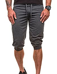 Hombres Pantalones Hippie Harén Pantalones De Deportivos Casual Pantalones Capri 99lG1