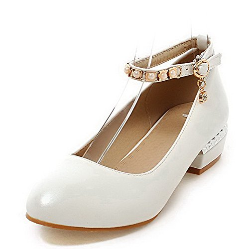 voguezone009-womens-pu-low-heels-pointed-closed-toe-solid-buckle-pumps-shoes-white-39