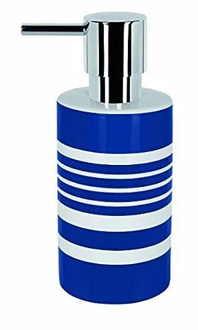 Spirella Tube Distributeur de savon Motif rayures, Bleu
