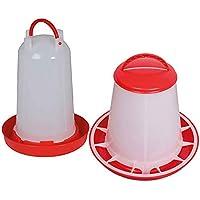 FINCA CASAREJO Pack comedero y Bebedero para gallinas y Otras Aves de 2 kg/3 litros