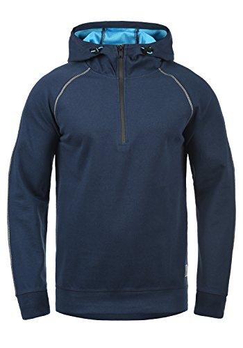 BLEND ATHLETICS Luca Herren Kapuzenpullover Hoodie Pullover Mit Kapuze, Größe:L, Farbe:Navy (70230) Athletic Mesh Pullover