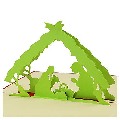 sus Popup Karte Grußkarte Weihnachten Popup Karte 3D Karte Geburtstag 3D Pop Up Karte Popup Karten Popup Karten Dankeschön Einzigartige 3D Geschenk Karte für Weihnachten ()