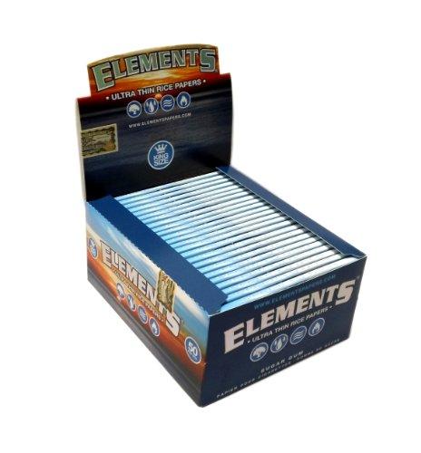 Supreme Rolling elementi Ultra Sottile riso King Size Cartine 3-Pack