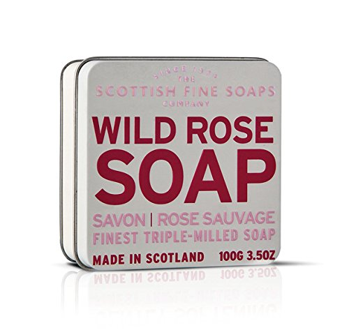 Scottish Fine Soaps Rose Floral Soap Tin  Soap 100g