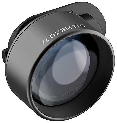 olloclip Telephoto Essential - Lente con Zoom Óptico 2X, Lente para la Cámara de Móvil y Smartphone, Compatible con iPhone X, XS, XS MAX, XR, iPad y MacBook, Sistema Connect X