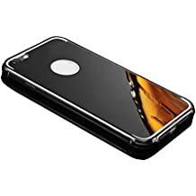 Vandot Premium Funda Aluminio para iPhone 6 6s (4.7) Bumper Case del Metal Ultra Thin Espejo Efecto [Fusion Mirror] Trasero Case Cover Protección [Resistente a Arañazos] y [Choque Absorcion] Carcasa caso - Negro