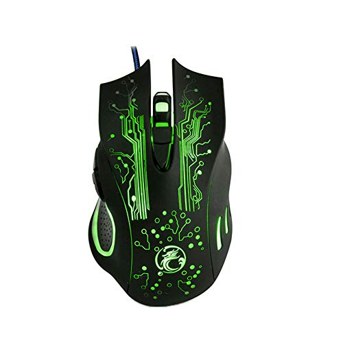 aming-Maus mit Kabel, USB, 2400 DPI, 6 Tasten, LED-Beleuchtung ()