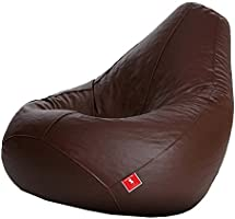 Comfy Bean Bags XXXL Bean Bag Filled with Beans Filler (Brown)