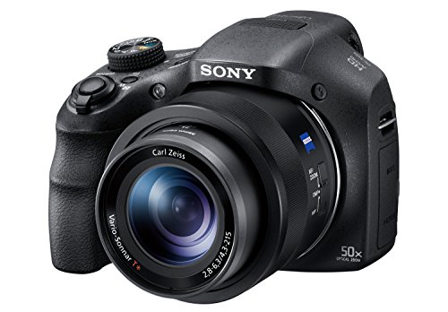 Sony Digitalkamera DSC-HX350B Bridge-Kamera mit 50-fach optischem Zoom (Exmor R Sensor, Carl Zeiss Vario-Sonnar Weitwinkelobjektiv 24-1200 mm, Full HD Video, 7,5 cm (3 Zoll) Display) schwarz