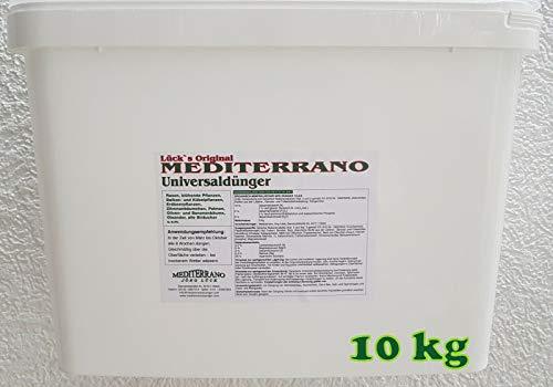 Lück´s original Mediterrano Universal Dünger 10 Kg für mediterrane Pflanzen, Bananen, Oliven, Zitronen, Hanfpalmen, Palmen