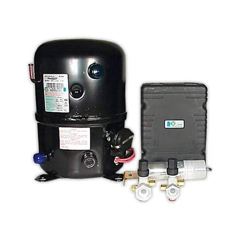 DOJA Industrial | TCS Kompressor FH4525Y R-134a 2-CV AM/F | TECUMSEH HOCH 74,25 cc, Rotalock Ventil
