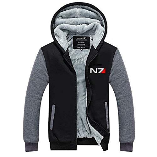 DealTrade N7 Hoodie Jacke Herren Winter Dicke Plus SAMT Zip Sweatshirt Langarm Warm Mantel Mit Kapuze Oberbekleidung Jumper Kostüm