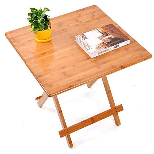 Baoniansoo Holz Esstisch, einfachen Tisch, Bambus-Material, tragbaren Haushalt, Innen-und Außenbereich verwendet Werden können, Carbonized Grundfarbe -