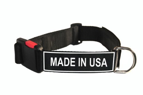 Dean & Tyler Nylon Patch Hund Halsband mit Made in USA Patches, groß, passt Hals 26 bis 94 cm