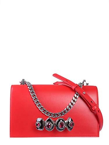 Alexander McQueen Borsa A Spalla Donna 570563Cmo0y6248 Pelle Rosso