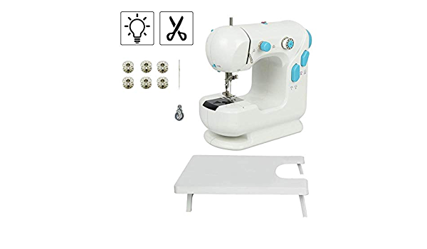 Electric Sewing Machine Mini Portable Sewing Machine Home Handy Stitch for Clothes Quick Repair TOPQSC Portable Sewing Machine