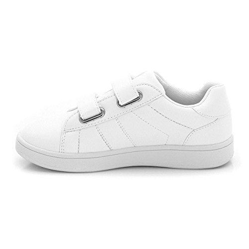 Flach Abcd'r Klettverschluss Sneakers Jungen Weiß Mdchen Und qqCwOnvPx