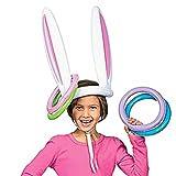 Hemore Giocattolo gonfiabile dell'orecchio di coniglio con l'anello