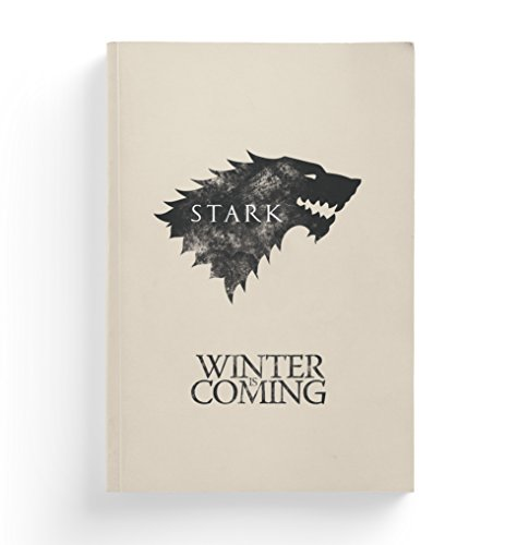 Notebit Game Of Thrones House Stark Composition Notebook, 8.25 inch x 5.75 inch x 0.5 inch