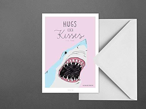 Postkarte/Hugs and Kisses -