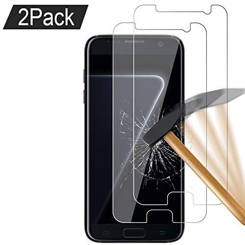[Lot de 2] Samsung Galaxy S7 Verre trempé Protecteur d'écran, ZCM Film Protection en Verre trempé écran [3D Couverture Complète] [Ultra Résistant Dureté 9H] [sans Bulles] pour Samsung Galaxy S7