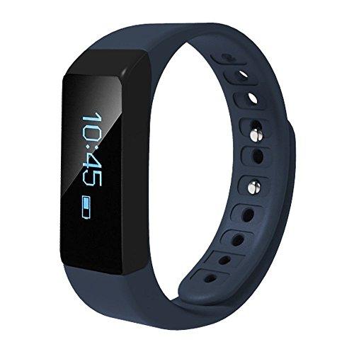 Megadream Fitnessarmband mit Bluetooth 4.0,intelligentem Schrittzähler, Kalorienzähler, Schlafüberwachung, Anruferinnerung, Armband mit Display, Armbanduhr, kompatibel mit iPhone und Android, in 3Farben erhältlich