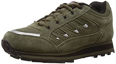 Lakhani Men's Olive Running Shoes - 6 UK (LKHI00T1115EM0006)