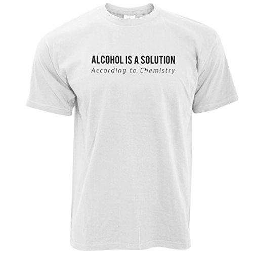 Alkohol ist eine Lösung nach Chemie Lustige Wissenschaft Herren T-Shirt White